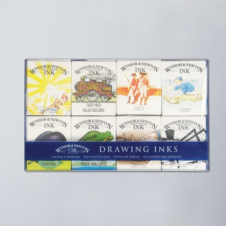 Winsor & Newton William Collection Ink Pack of 8 14ml | Cass Art
