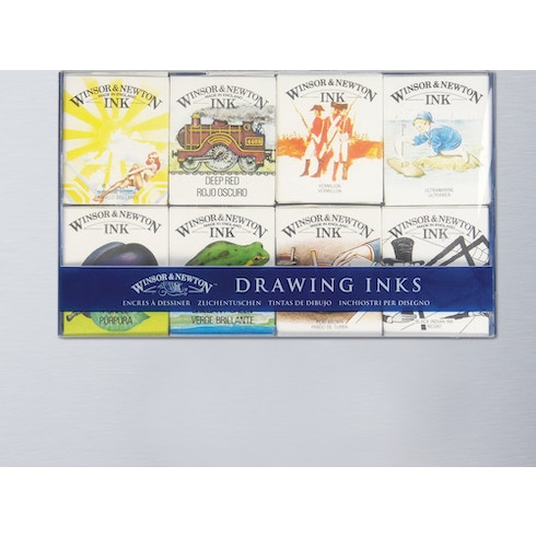 Winsor & Newton William Collection Ink Pack of 8 14ml   Cass Art