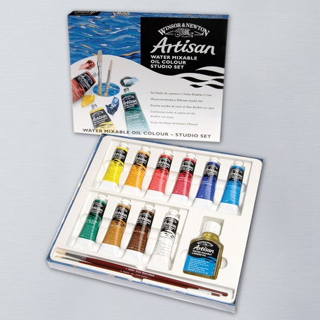 Winsor & Newton Artisan Water Mixable Oil Colour Studio Set | Cass Art