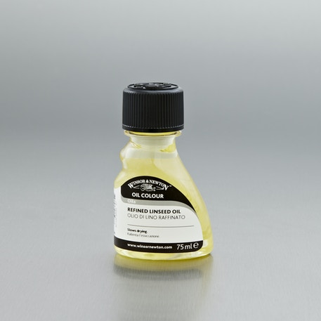 Winsor & Newton Refined Linseed Oil 75ml | Oil Mediums | Cass Art