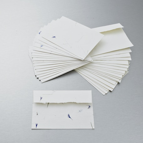 Khadi Rag Envelopes 100gsm Plain White | Cass Art