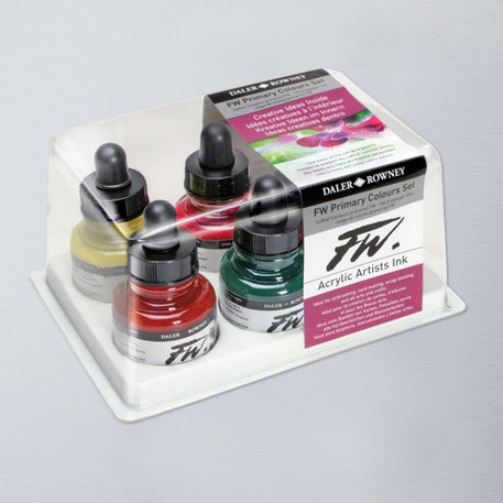Daler Rowney FW Ink Primary Colours Set of 6 | Cass Art
