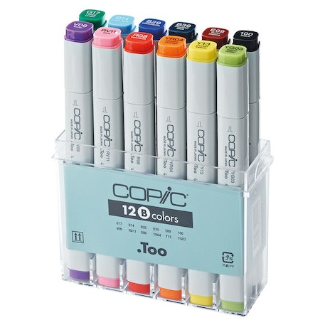 Copic Original Markers Set of 12 | Cass Art