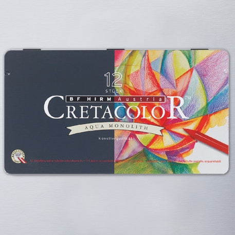 Cretacolor Aqua Monolith Pencil Tin Set of 12 | Cass Art