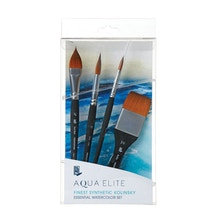 Princeton Aqua Elite Synthetic Essentials Brush Set of 4
