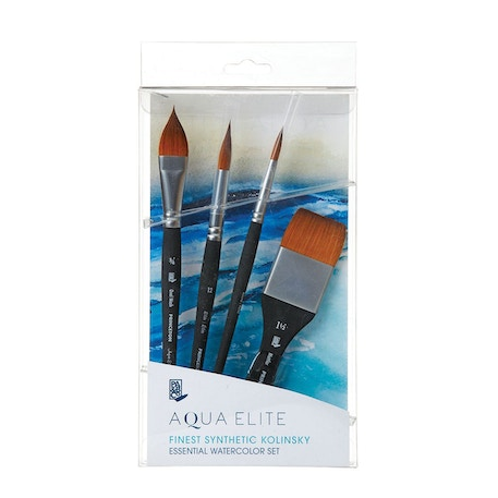 Princeton Aqua Elite Synthetic Essentials Brush Set of 4 |