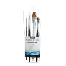 Princeton Aqua Elite Synthetic Professional Brush Set of 4
