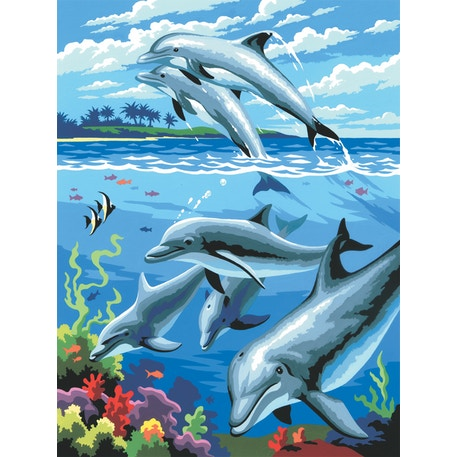 Royal & Langnickel Paint by Numbers Small Dolphins | Cass Art