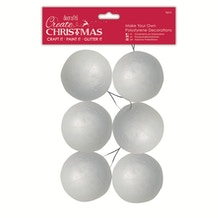 Docrafts Make Your Own Polystyrene Decorations Pack of 6