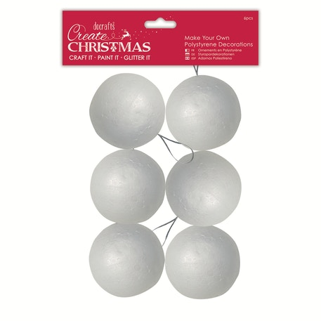 Docrafts Make Your Own Polystyrene Decorations Pack of 6 | Cass Art