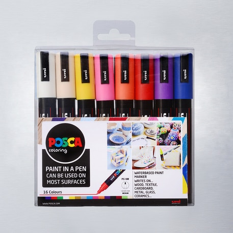 Posca Paint Marker PC-5M 1.8-2.5mm Set of 16 | Cass Art