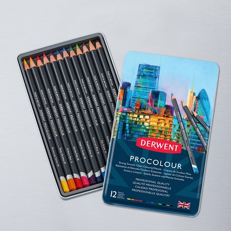 Derwent Procolour Tin Set of 12