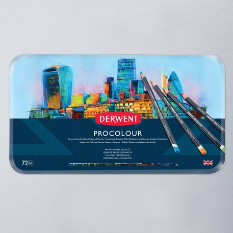 Derwent Procolour Tin Set of 72 | Cass Art
