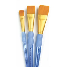 Royal & Langnickel Crafter's Choice Gold Taklon Wash Brush Set of 3