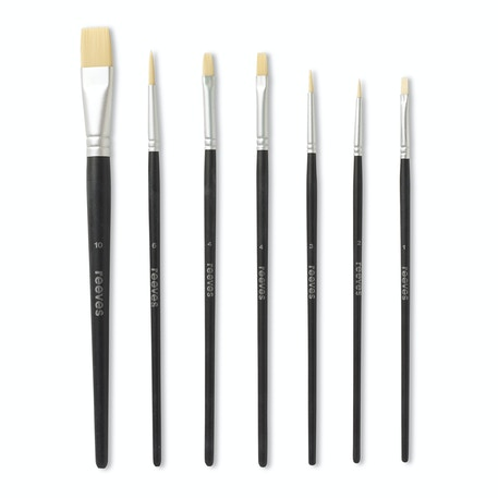 Reeves Acrylic Synthetic Brushes Set of 7 | Cass Art