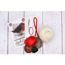 The Crafty Kit Company Robin Needle Felting Craft Kit