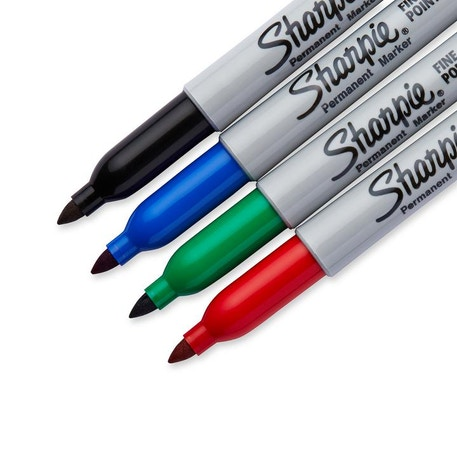 Sharpie Fine Permanent Marker Set of 4 Assorted Colours