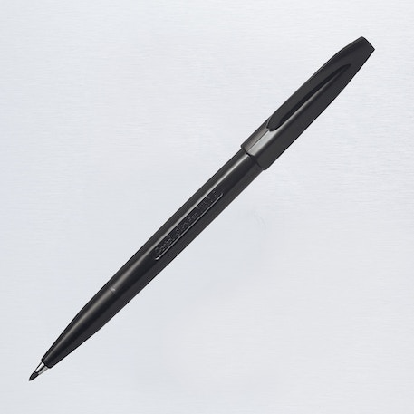 Pentel Sign Pen Fibre Tip Black | Cass Art