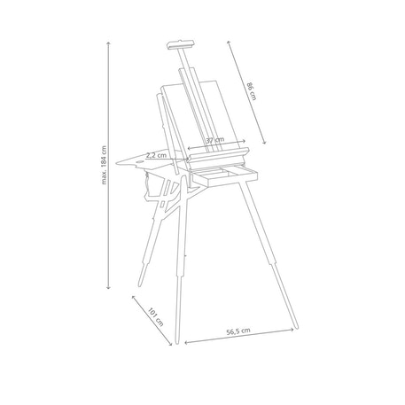 JULLIAN Full Size Sketch Box Easel including Carrying Bag | Artist Travel Easel | Cass Art