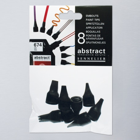 Sennelier Abstract Acrylic Set of 8 Nozzles | Paint Nozzles | Cass Art