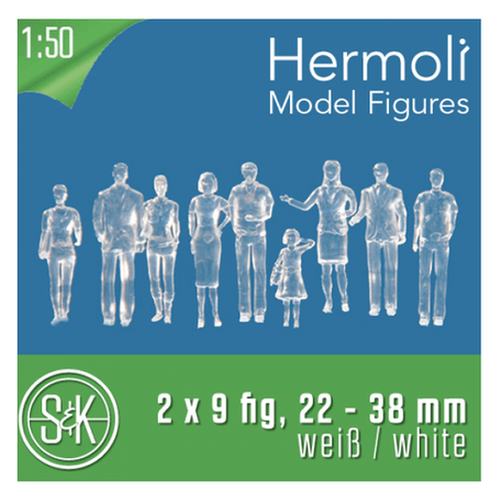 Schulcz Hermoli Figures Clear 1:50 Pack of 18 | Cass Art