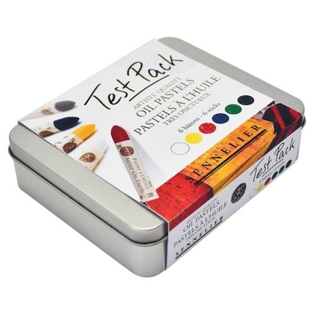 Sennelier Oil Pastels Test Pack Set of 6 in Tin | Cass Art