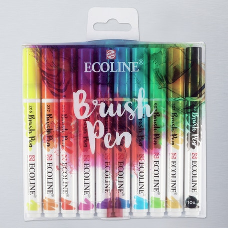 Ecoline Watercolour Brush Pen Set of 10 | Cass Art