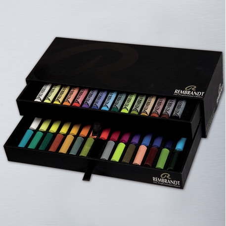 Rembrandt Soft Pastel Box 30 Half Sticks & 15 Full Sticks | Cass Art
