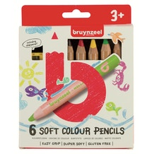 Bruynzeel Kids Soft Colour Pencils Set of 6