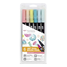Tombow Dual Brush Pens Candy Colours Set of 6