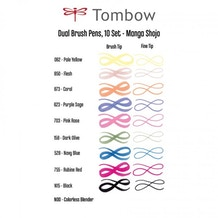 Tombow Dual Brush Pens Shojo Manga Set of 10