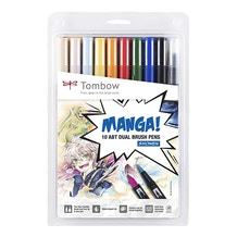 Tombow Dual Brush Pens Shonen Manga Set of 10