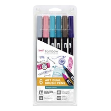 Tombow Dual Brush Pens Vintage Colours Set of 6