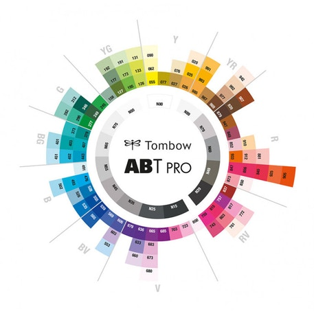 Tombow ABT Pro Dual Brush Pen Basic Colours Set of 12 | Cass Art