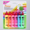 Tulip 3D Neon Fabric Paint 37ml Assorted Colours Set of 6