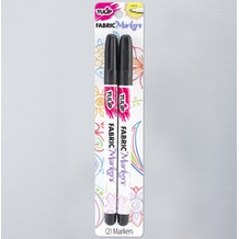 Tulip Fabric Markers Fine Tip Black Pack of 2