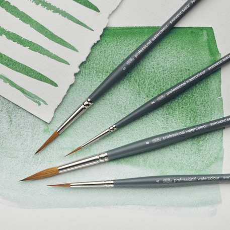 Winsor & Newton Professional Watercolour Synthetic Sable Pointed Round Brushes