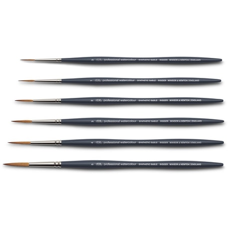 Winsor & Newton Professional Watercolour Synthetic Sable Rigger Brushes