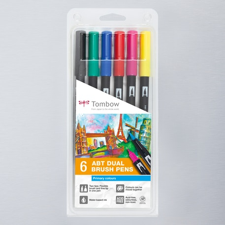 Tombow Dual Brush Pens Pack of 6 | Cass Art