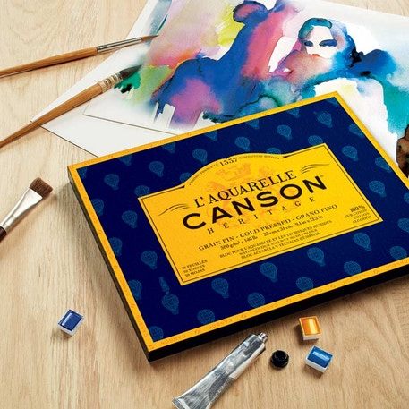 Canson Heritage Block 300gsm 20 Sheets Cold Press | Cass Art