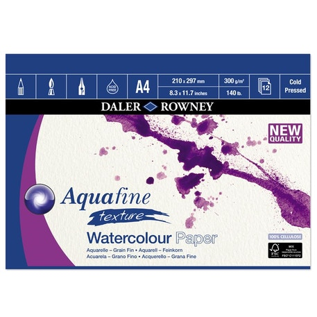Daler Rowney Aquafine Cold Pressed Watercolour Pad | Cass Art