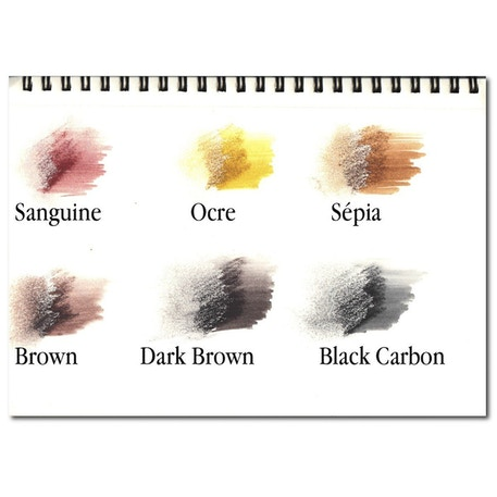 ArtGraf Tailor Shape Water Soluble Earth Colours Set of 6 | Cass Art