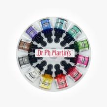 Dr Ph Martin's Bombay Ink 30ml Set 1 (Colours 1 - 12)