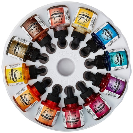 Dr Ph Martin's Bombay Ink 30ml Set 2 (Colours 13 - 24) | Cass Art