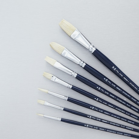 Pro Arte Studio Hog Set Series C Brush Set of 7 | Cass Art Exclusive