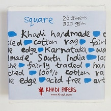 Khadi White Paper Square 320gsm 30cm Pack of 20 Sheets