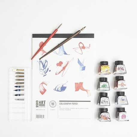 Try Calligraphy Set with Ink, Nibs and Paper | Cass Art