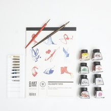 Try Calligraphy Set with Ink, Nibs and Paper
