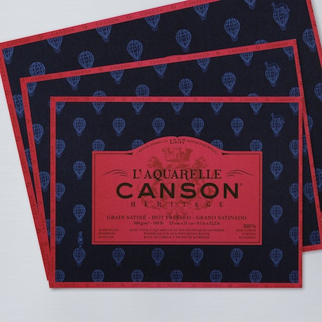 Canson Heritage Block 300gsm 20 Sheets Hot Press | Cass Art