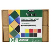 Pebeo Collection Set Vitrail 45ml Assorted Colours Set of 10